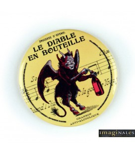 "Magnet Décapsuleur""Le diable en bouteille"" /IMAGINALES"