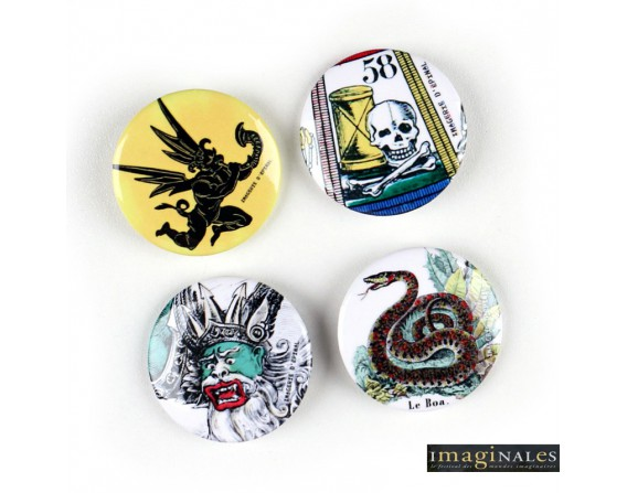 Lot de 4 badges / IMAGINALES