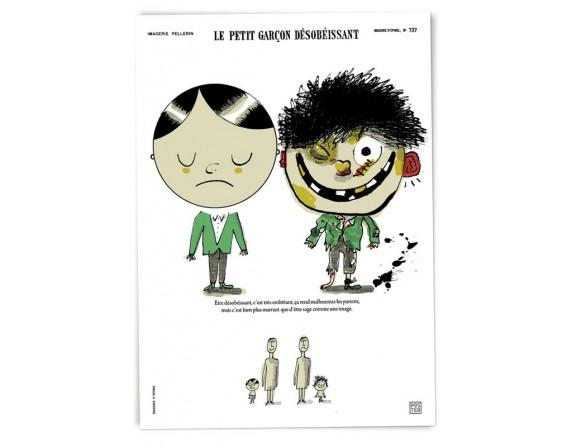 """Affiche """"Petit garçon désobéissant"""""""