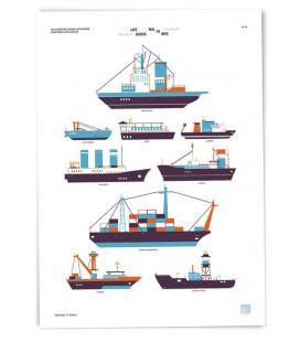 "Grande affiche ""Gros navires"""