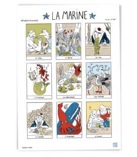 """Grande affiche """"La marine"""""""
