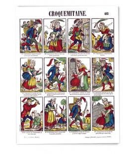 """Poster """" La Hotte de Croquemitaine"""""""