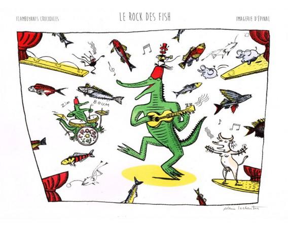 """Image """"Le Rock des Fish """"par Alain Lachartre"""