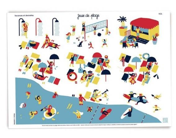 """Grande affiche """"Jeux de plage"""""""