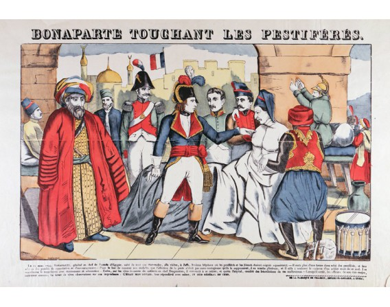 BONAPARTE TOUCHANT LES PESTIFERES