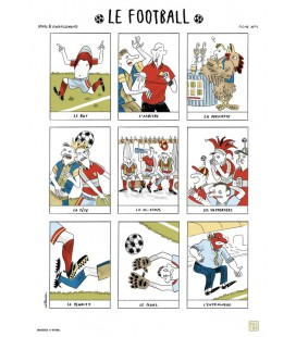 "Affiche ""Le football"""
