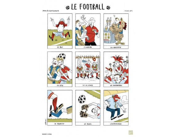 "Grande affiche ""Le football"""