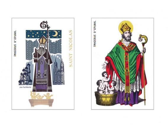 Lot de 2 magnets Saint-Nicolas