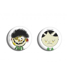 Lot de 2 badges Petit garçon désobéissant
