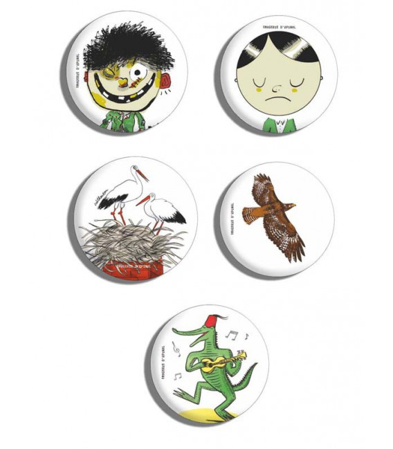 Lot de 5 badges