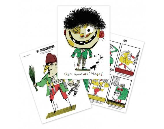 Lot de 3 cartes doubles Serge Bloch