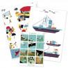 Lot de 3 cartes doubles sur la thématique marine