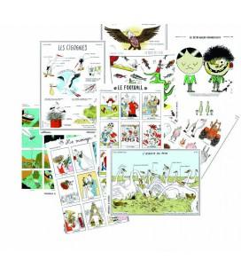 Lot de 9 cartes postales contemporaines
