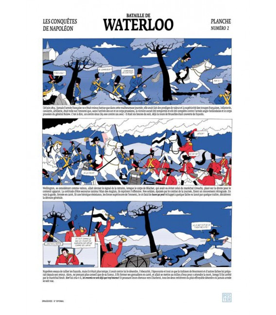 "Grande affiche"" Bataille de Waterloo"""