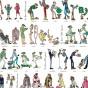 """Grande affiche """"Les 7 familles de la mode"""""""