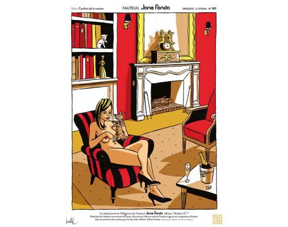 """Grande affiche """"Fauteuil Jane Fonda"""" par Loustal"""