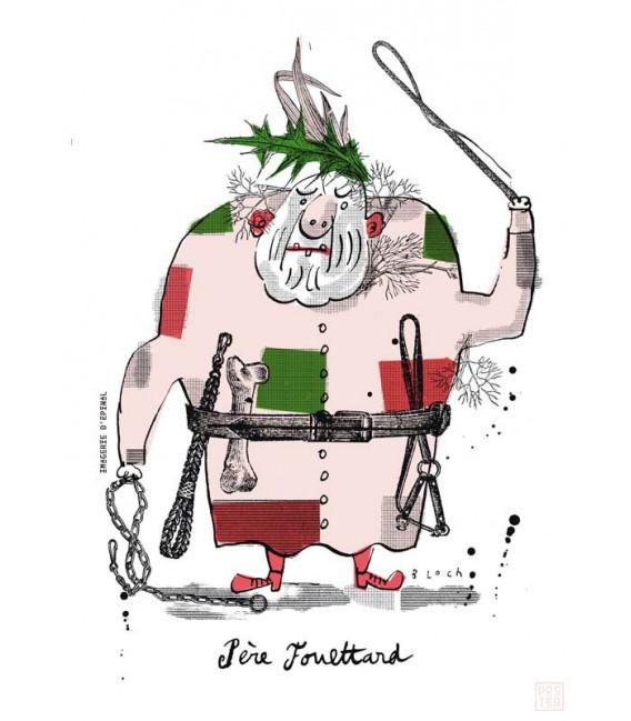 """Grande affiche """"Le père Fouettard"""""""