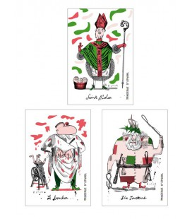 Lot de 3 magnets Théme Saint Nicolas