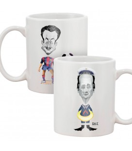 "Mug ""Poupées à habiller"" (Sarkozy, Hollande)"