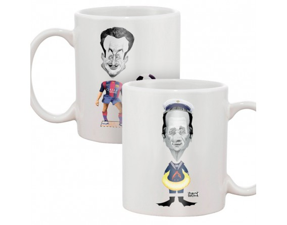 Mug Poupée à habiller (Sarkozy, Hollande)