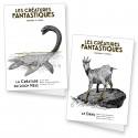 """2 cartes doubles """"Les créatures fantastiques"""""""