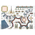 """Lot de 5 cartes doubles """"Tour Eiffel"""""""