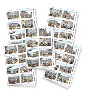 """Lot de 5 cartes doubles """"Monuments de Paris"""""""