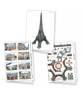 Lot de 3 cartes doubles Paris
