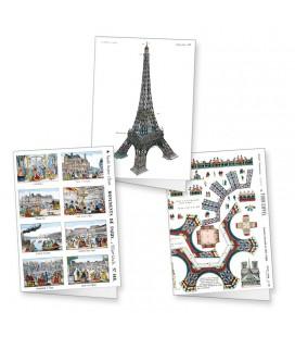 Lot de 3 cartes doubles Paris
