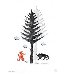 """Grande affiche """"Loup et Chaperon rouge"""""""