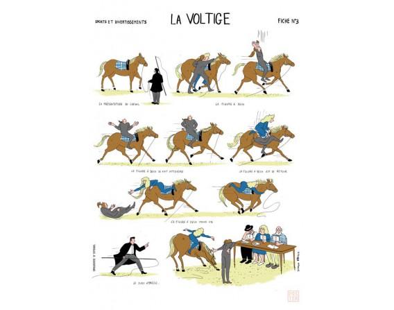 """Grande affiche """"La voltige"""""""
