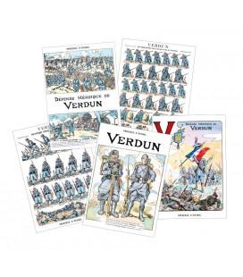 """Lot de 5 cartes postales thème """"Verdun"""""""