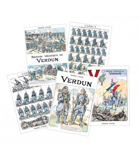 "5 cartes postales thème ""Verdun"""