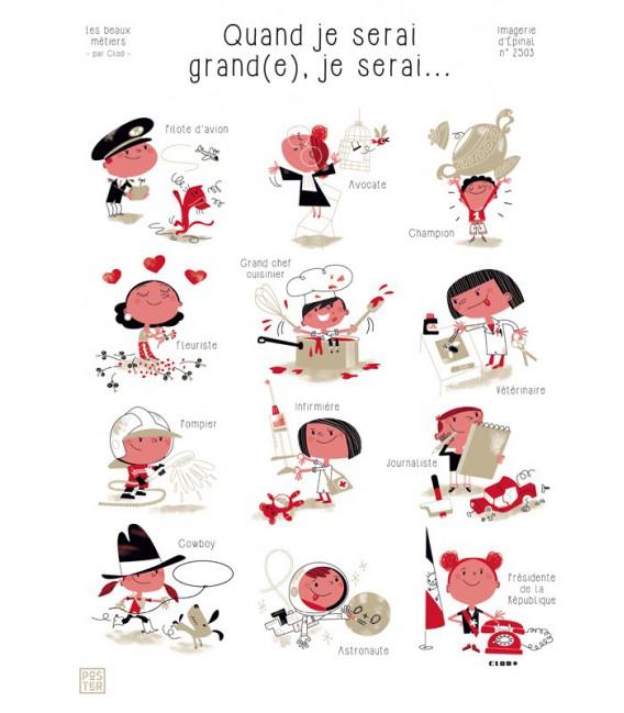 """Poster """"Quand je serai grand(e), je serai..."""" par Clod"""