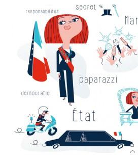 """Affiche """"Vive la République, vive la Présidente!"""" par Clod"""