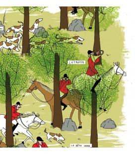 """Affiche """"La chasse à courre, la grande vénerie"""""""
