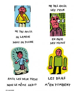 """Affiche """"Expressions et corps humain"""""""