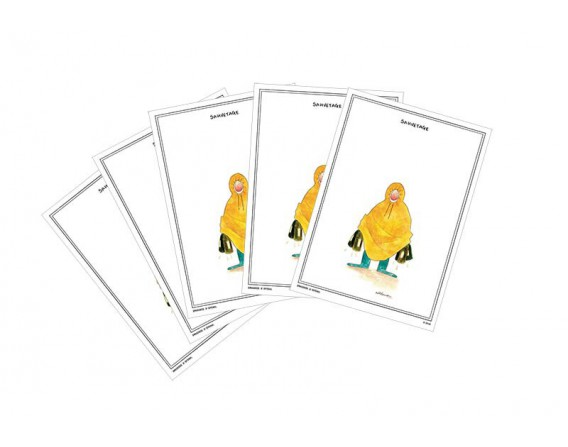 "Lot de 5 cartes postales ""Sauvetage"" collection IN VINO VERITAS par Zoé Thouron"
