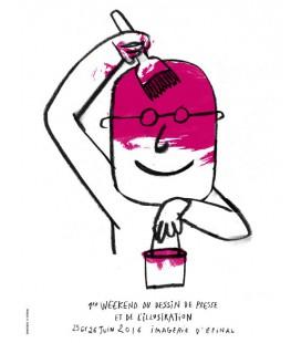 """Image """"Affiche Festival du dessin de presse"""" par Serge Bloch"""
