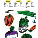 """Affiche  """"Légumes de saison"""" par Hubert Poirot-Bourdain"""