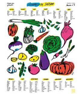 """Affiche """"Légumes de saison"""""""