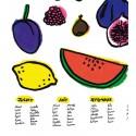 """Affiche """"Fruits de saison"""""""