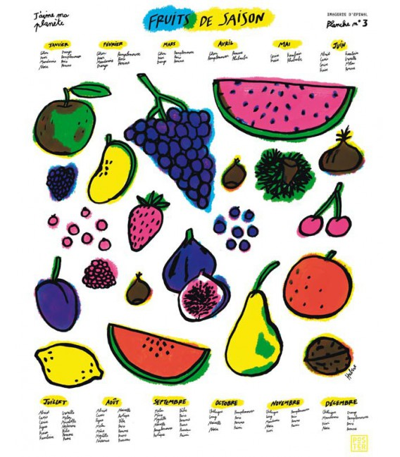 "Poster ""Légumes de saison"" par Hubert Poirot-Bourdain"
