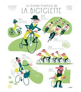 """Affiche """"La grande aventure de la bicyclette"""""""