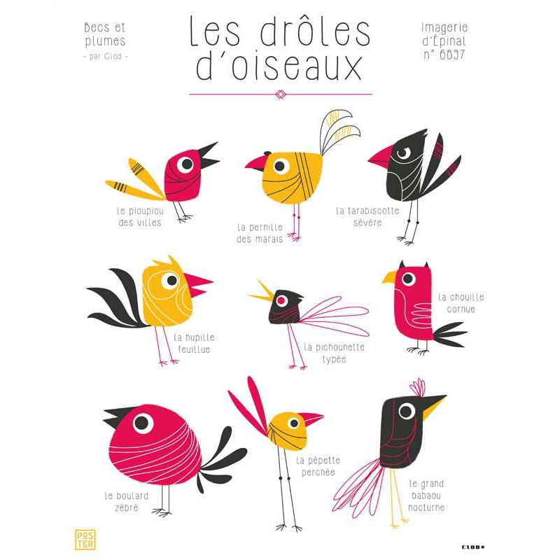 Affiche Les Droles D Oiseaux Maison Images D Epinal