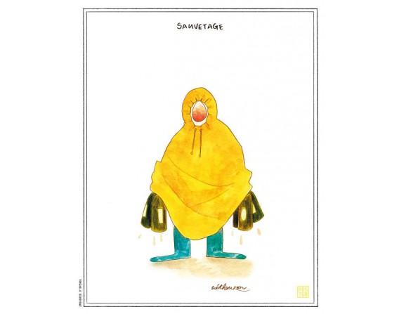 """Affiche """"Poule d'eau"""" par Zoé Thouron"""