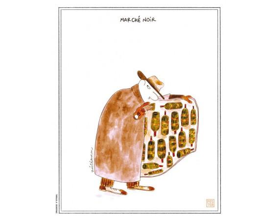 """Affiche """"Le marché noir"""" par Zoé Thouron"""