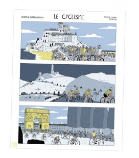 "Affiche ""Le cyclisme"" de Simon Bailly"