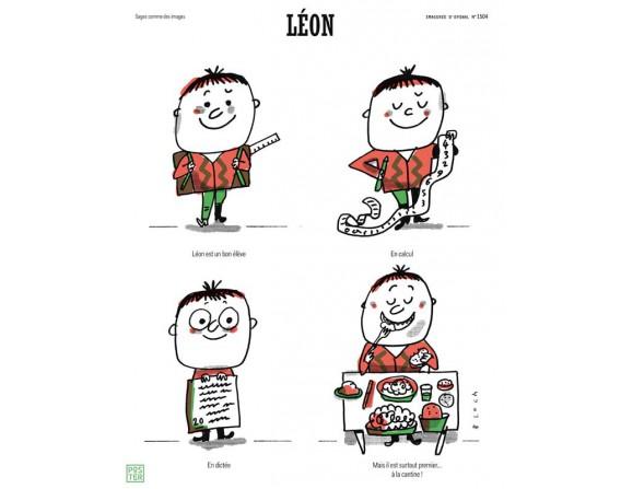 """Affiche """"Léon"""" par Serge Bloch"""