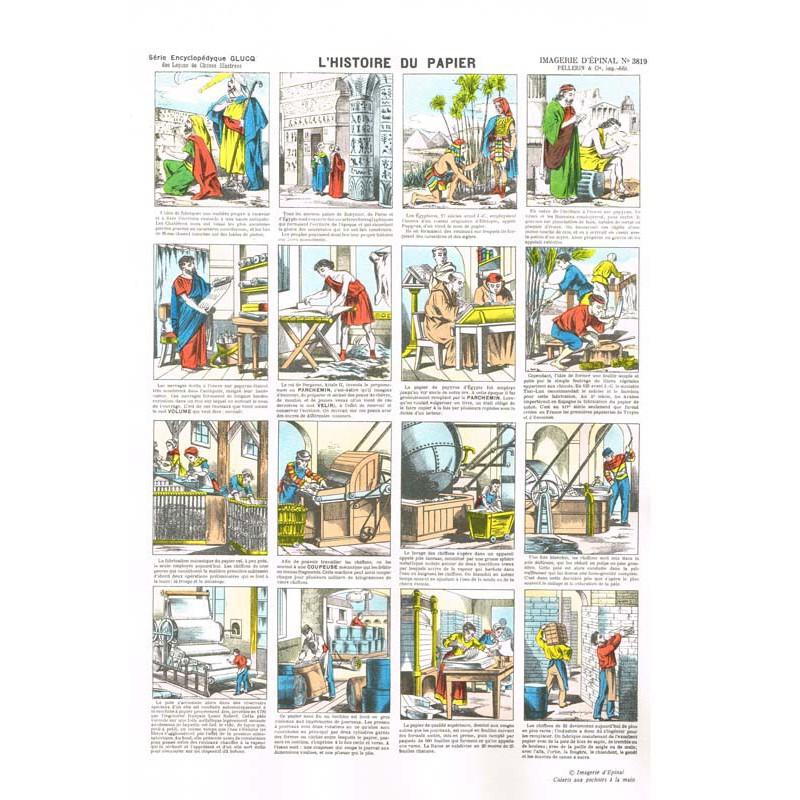 L 39 histoire du papier imagerie d pinal - L art du papier paris ...